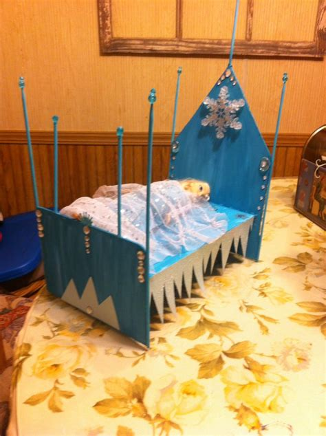 elsa bed frozen elsa bed my version craft ideas pinterest