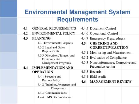 environmental management program template iso 14001 ems awarness