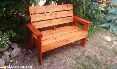 how to build outdoor benches how to build a 2x4 garden bench howtospecialist how to