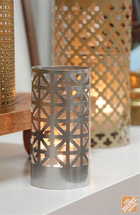 Handmade Candle Holders Ideas - diy gift ideas aluminum sheet candle holders