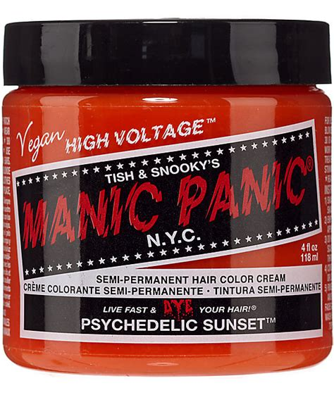 muse for hair at zumiez store manic panic high voltage psychedelic sunset hair color