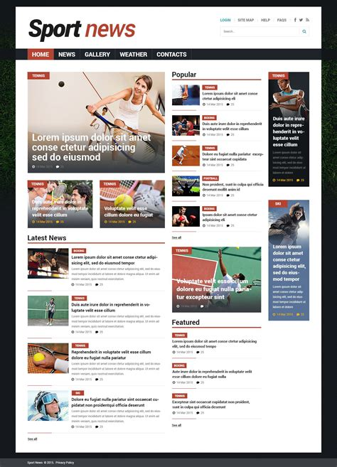 themes joomla news sports news responsive joomla template 53529