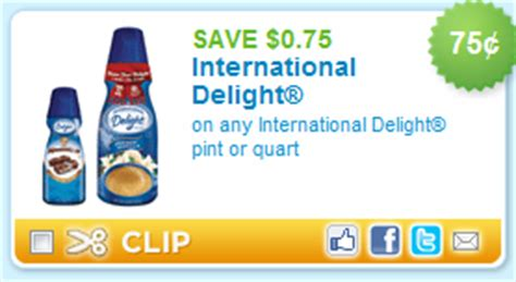 $.75/1 International Delight Coupon   Faithful Provisions