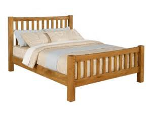 Cheap Oak Bed Frames Time Living Denver Solid Oak Wooden Bed Frame
