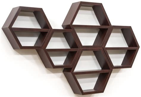hexagon honeycomb shelving set of 5