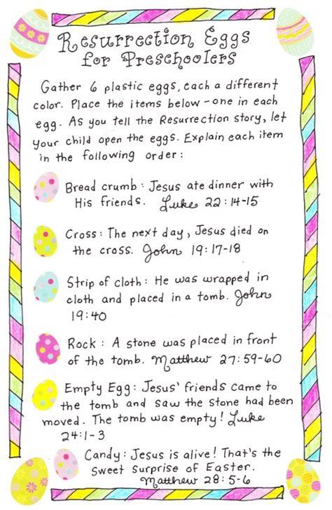 printable children s version of the easter story resurrection eggs for toddlers easter pinterest