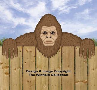 fence peeker woodcraft patterns bigfoot fence peeker pattern