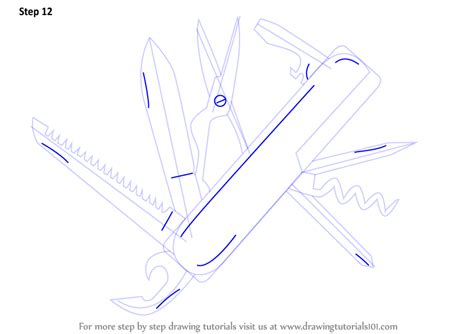how to draw a army boat step by step learn how to draw swiss army knife knives step by step