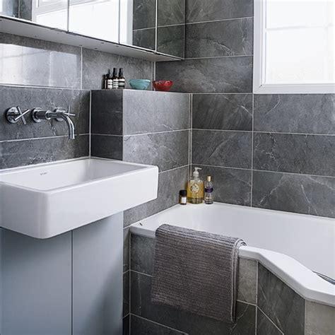 modern bathroom tiling modern bathroom with all grey tiling housetohome co uk