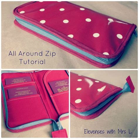 sewing pattern for zip around wallet elevenses with mrs l all around zip tutorial sewing