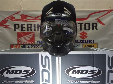 Murah Mds Superpro Solid Supermoto jual helm mds supermoto pro solid graphite