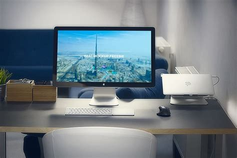 showing desk phone number imac in office mockup mockupworld