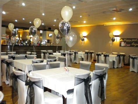 elegant  birthday decorations black white