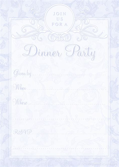 5 best images of free printable dinner invitations free