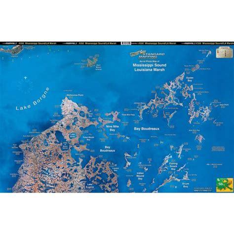 biloxi map standard mapping 350 louisiana marsh bayou biloxi folded