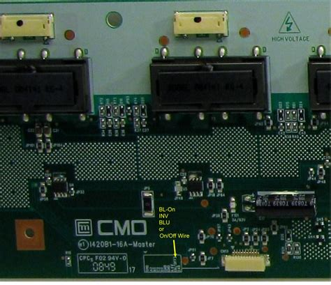 Backlight Inverter Tv Lcd Lg 32cs410 Pn Lc320wxn 6632l 0637a lcd inverter symptoms images