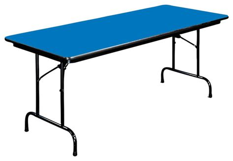 18 X 48 Folding Table by High Pressure Folding Table 18 In X 48 In Blue