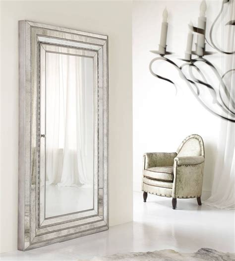 floor mirror with jewelry armoire hooker furniture accents melange glamour floor mirror w