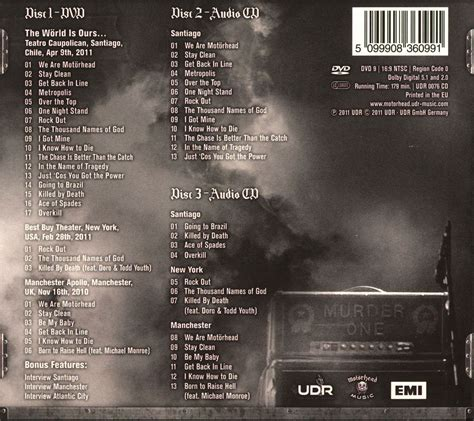 The Vol 1 blood and honor metal motorhead the world is ours vol