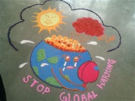 rangoli themes for global warming rangoli depicting global warming issue rangoli
