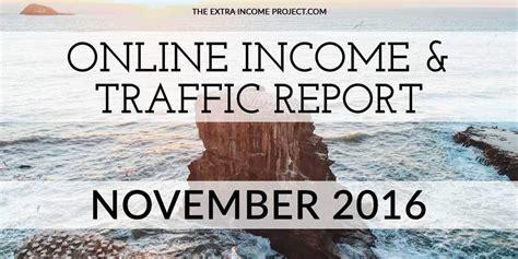 november 2016 income traffic report