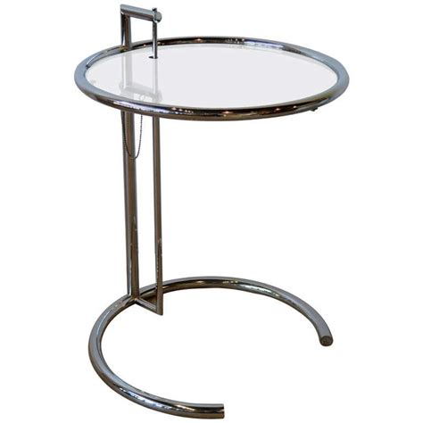 Glass And Chrome Side Table Eileen Gray Chrome And Glass Side Table E1027 At 1stdibs