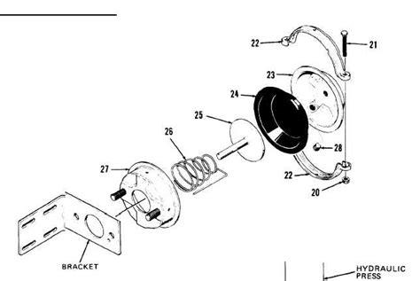 air brake chamber diagram disassembly of air chamber