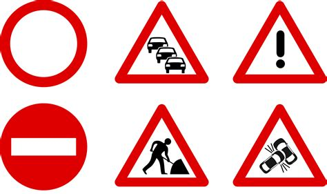clipart traffic sign icons
