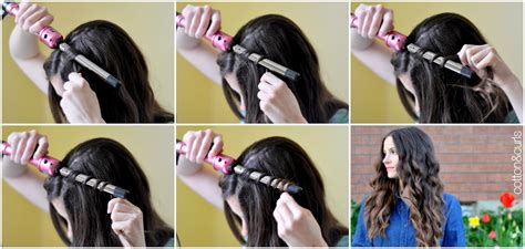 curling hair tutorial for med hair spiral curls hair tutorial for long or short hair