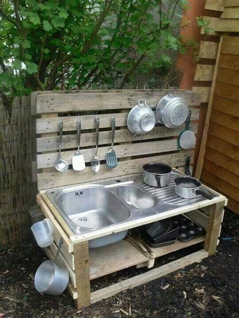 mud kitchen recycle the sink from the rv and turn it into