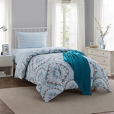 teal comforter twin montoya 16 piece twin twin xl comforter set in teal bed