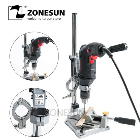 Zonesun Electric Drill Stand Power Tools Accessories Bench