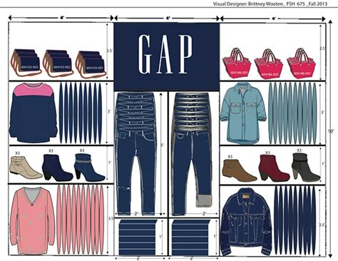 Clothing Boutique Floor Plans by Gap Wall Planogram On Behance