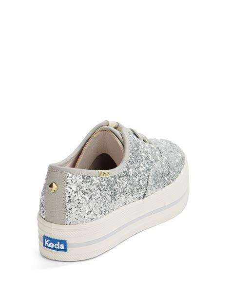 Keds Kate Spade Silver kate spade keds for kick glitter platform sneakers