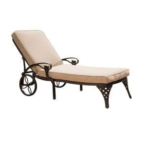 home styles biscayne bronze patio chaise lounge with taupe