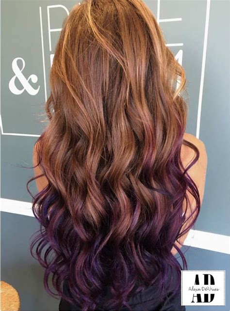 tips on the bottom of hair purple tips on light brown hair www imgkid com the