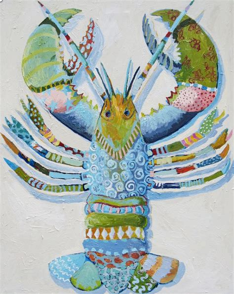 cute lobster pattern lobster oil painting for the home pinterest lobsters