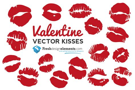 Valentines Kisses by Free Vector Kisses Free Vector