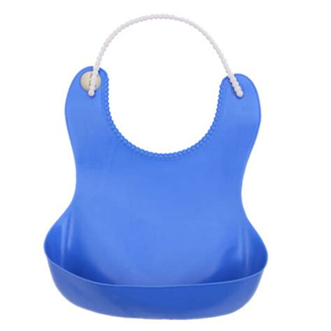 Baby Bibs Waterproof 1 infants baby silicone bib adjustable plastic bib waterproof saliva bibs new ebay