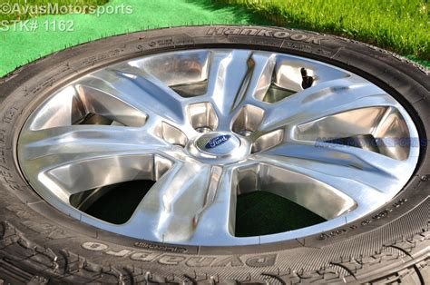 ford  oem factory polished platinum wheels tires expedition  tpms ebay