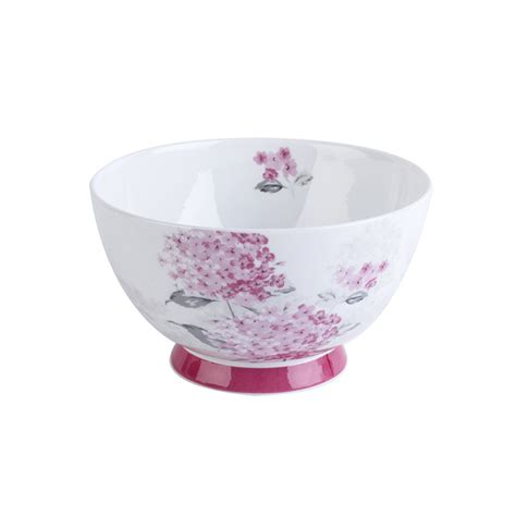 pink bowls portobello footed ami pink bone china bowl bowls portobello by inspire
