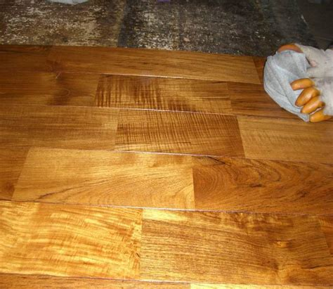 Oiled teak parquet flooring   Gallery