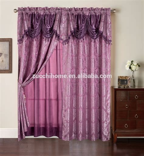 curtain fringe 2 layers bedroom curtain fringe jacquard curtain in luxury