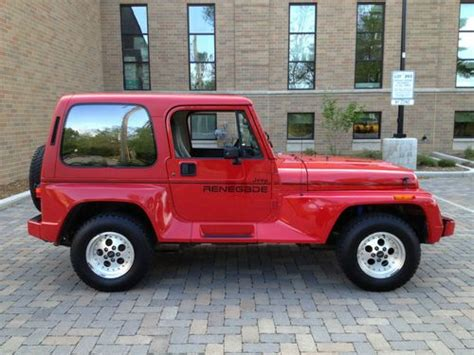 1991 Jeep Wrangler Renegade Sell Used 1991 Jeep Wrangler Renegade 59k Rust Free 5spd 4
