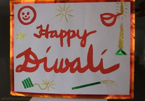Handmade Posters - handmade cards for diwali whats cooking