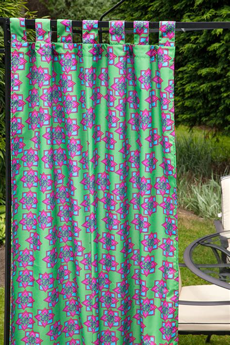 waterproof outdoor curtains outdoor waterproof printed tab top curtains garden d 233 cor