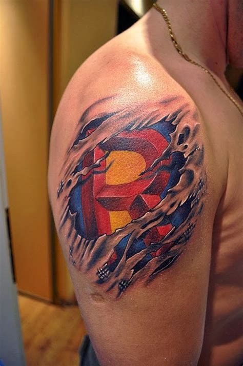 awesome guy tattoo designs 15 cool superman ideas