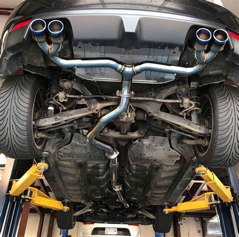 subaru exhausts agency power titanium tip catback exhaust w o muffler
