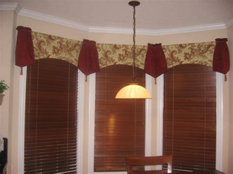 drapery valances bay window treatments rose s drapery designs