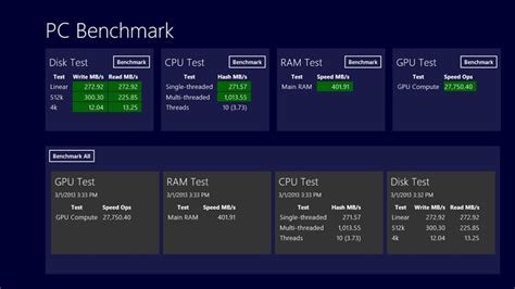 bench test computer pc benchmark for windows 8 and 8 1